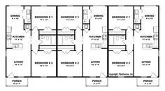 8 unit plan based on one of our most popular layouts for for Building a triplex costs