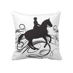 Dressage Horse Pillow