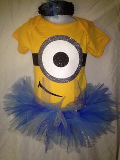 Minions Inspired Tutu Costume size newborn-4 by TakinCareofBows