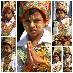 Yangon , these boys will enter the monkhood the day after this ceremony.