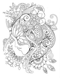 Koi Fish Discover Magic Mask Adult Coloring Book (Coloring pages PDF Coloring Pages Printable For Stress Relieving For Relaxation) Coloring Pages For Grown Ups, Fairy Coloring Pages, Coloring Book Art, Printable Adult Coloring Pages, Disney Coloring Pages, Mandala Coloring, Free Coloring Pages, Coloring Sheets, Colouring Pages For Adults