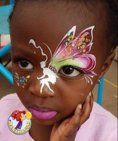 Face Painting Flowers, Butterfly Face Paint, Face Painting Tips, Face Painting Designs, Paint Designs, Face Paintings, Princess Face Painting, Face Paint Makeup, Make Up Tricks