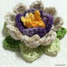 FLOR DE MARACUJÁ PASSO A PASSO - http://www.croche.com.br/flor-de-maracuja-passo-a-passo/