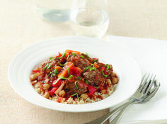 This hearty stew includes loads of veggies and is rich in fibre, protein and other good things for bub.