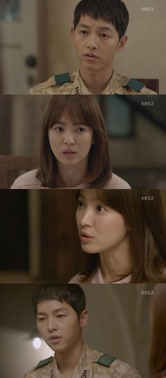 "[Spoiler] 'Descendants of the Sun' Song Hye-kyo to Song Joong-ki, ""You look handsome every single time. I like you to death"""