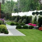 Ogród geometryczny - Tajemniczy Ogród Modern Garden Design, Stepping Stones, Golf Courses, Sidewalk, Exterior, Gardening, Landscape, Outdoor Decor, Gardens