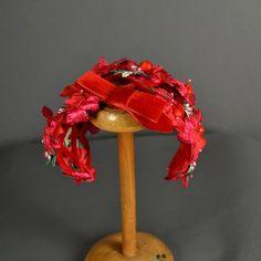 Vintage 1950s Hat 50s Hat fascinator floral  #Vintage #Fashion #Hat
