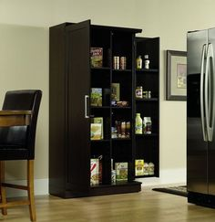 Sauder Double Door Storage Cabinet, Large, Dakota Oak * Click now. Unbelievable product right here! : Fresh Groceries