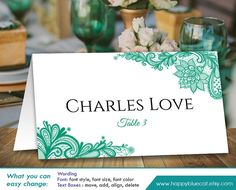 wedding place card template instant download vintage bouquet