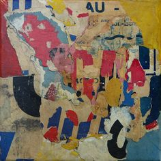 MAR-POI 11 - Christian Gastaldi 20 x 20 cm Old posters on canvas