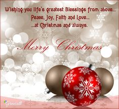 christmas greetings Send blessings of peace, love amp; joy to your loved ons on with this Christmas Greetings Christian, Christmas Wishes Greetings, Christmas Wishes Quotes, Merry Christmas Message, Christmas Blessings, Christian Christmas, Merry Xmas, Christmas Card Verses, Christmas Scripture