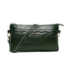 7ba617733e78 Dark Green Genuine Cowhide Leather Evening Clutch Gorgeous Sequined Casual  Small Coin Purse Vogue Women Party