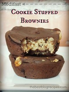 Medifast Cookie Stuffed Brownies... just another way to jazz up your 5 & 1 weight loss plan!