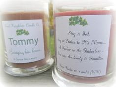 Soy Candle Adoption Fund raiser  Tommy Hemp by GoodNeighborsCandle. Please visit this shop &/or read this blog http://hospitalitylane.blogspot.com/2012/10/introducing-tommy-candles.html for their story. It will SOOO touch your heart! <3