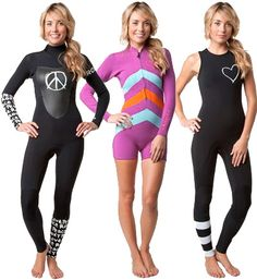 Roxy x Kassia Wetsuits 3 Options for whatever the weather! #ROXYOutdoorFitness @ROXY