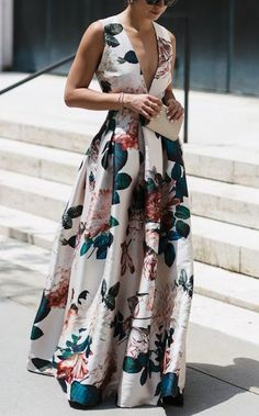Stylish Floral Print Sleeveless floral maxi dress maxi dress formal maxi dress summer maxi dress casual maxi dress for wedding guest boho maxi dress floral maxi dress Stylish Dresses, Casual Dresses, Fashion Dresses, Dresses Dresses, Dress Outfits, Long Dresses, Fashion Clothes, Backless Maxi Dresses, Formal Outfits