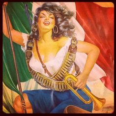 Mexican calendar art. This is a Classic One for Mexican Americans. I adore this Woman.