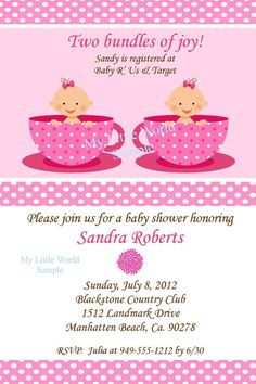 Twin Baby Shower invitation  DIY Printable by TresChicPartyDesigns, $12.00