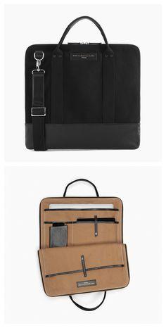 WANT Les Essentiels Heathrow commuter bag Black Leather Backpack, Black Tote Bag, Commuter Bag, Minimalist Bag, Men's Backpack, Black Handbags, Laptop Bag, Leather Men, Pouches