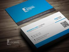 Download » http://businesscardjournal.com/blue-corporate-business-card-template-with-qr-code/  Free Blue Corporate Business Card Template With QR Code