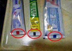 Los significados según el color de la marca de la pasta dental
