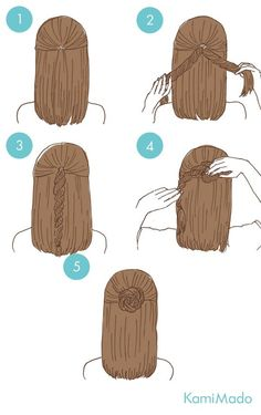 33 Quick And Easy Hairstyles For Straight Hair Hair Pinterest