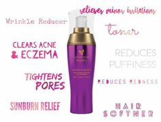 """Rose Water... what's that for anyway? Ummm -- what's it NOT for?!?!? It helps SOOO many things from bug bites to sunburns to wrinkles to eczema!!! You can use it to help with redness and/or inflammation and it even softens your hair!!!   Now, don't fret. I know you're looks at this purple bottle and thinking """"They've done gone and changed up that miracle water!"""" Nope! It's the same fantastic product but now the bottle matches the Royalty Line!!"""