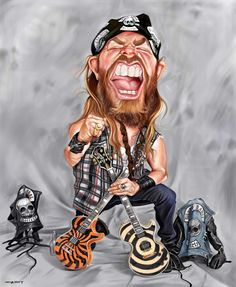 Rock Caricature By Sebastian Cast