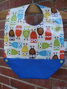 Laminated Cotton Feeding Bib Baby Feeding Bib by RagamuffinsandCo Baby Feeding, Baby Bibs, Gender Neutral, Owl, Cotton, Breastfeeding, Owls, Infant Formula