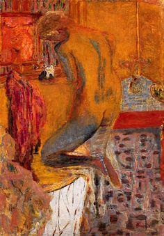 amare-habeo: Pierre Bonnard (1867-1947) - Nu de dos à la toilette, 1934