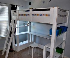 diy loft bed (for Josh's room)