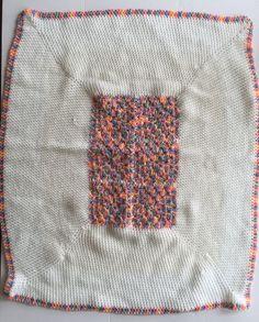 """Hand Knitted Baby Blanket Crochet Infant Newborn Shower Gift 35"""" x 30"""" #Unbranded"""