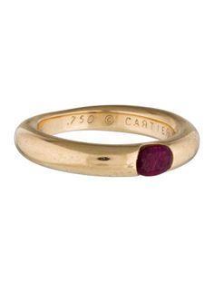 Cartier 18K Ellipse Ruby Band
