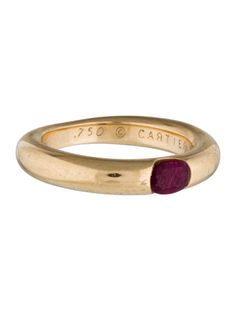 Cartier 18K Ellipse Ruby Band