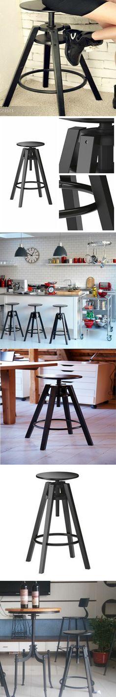 The village of retro furniture,Vintage metal bar chair,anti rust treatment,Bar furniture sets,black metal Lifting bar stool