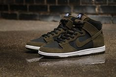 Nike SB Zoom Dunk High Pro Strikes a Military Look in Dark Loden Green - EU Kicks Sneaker Magazine