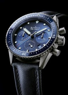 """Blancpain Fifty Fathoms Bathyscaphe Chronographe Limited Edition - see more about it in Ariel's piece over on Departures Magazine """"Not only is the Fifty Fathoms collection capable of being worn for professional diving, but it is also among the most aesthetically-pleasing luxury sport watches..."""" then see more we've written about Blancpain Fifty Fathoms watches: http://www.ablogtowatch.com/tag/blancpain-fifty-fathoms/"""