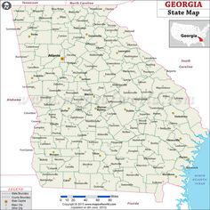 Map Of Georgia Georgia Hotels Lodging Interstate Maps - Georgia map for sygic