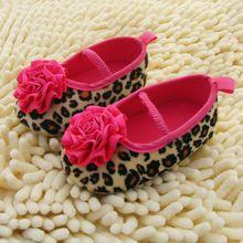 0-18 M Crianças Infantis Do Bebê Meninas Flor Leopardo Sapatos de Sola Macia Malha Sapatos Berço(China (Mainland))