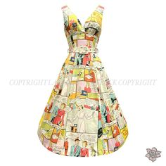 comic book dress- amazing! I have a dress pattern, and I bought it specifically to do a comic book dress, just need the right fabric!