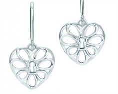 Brincos Tiffany Filigree Heart Drop Earrings #Brincos #Tiffany