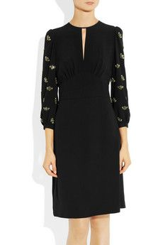 Miu Miu | Embellished crepe dress | NET-A-PORTER.COM