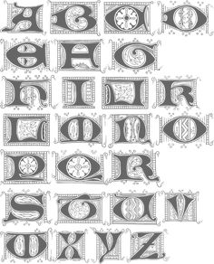 A nice set of Lombardic capitals by Jose Jimenez