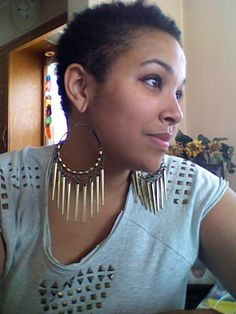 1000+ images about short hair, big earrings on Pinterest ...