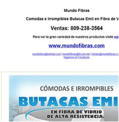 Comodas e Irrompibles Butacas Emil en Fibra de Vidrio  -Publicidad
