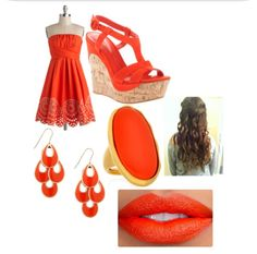 Cute orange summery outfit