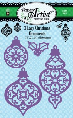 Lacy Christmas Ornaments Cutting Dies by Hot Off The Press Inc (4105326)