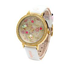 White 3D Mini World Watch - Springtime via Fashionista Secret Shop. Click on the image to see more!