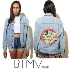 mickey mouse retro denim jacket 1980