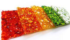Fused glass back splash accent tiles. Kitchen by SerdinyaArt